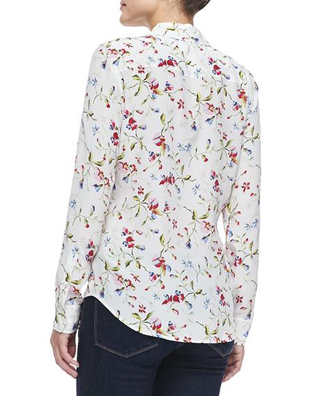 Equipment Brett Floral-Print Silk Blouse
