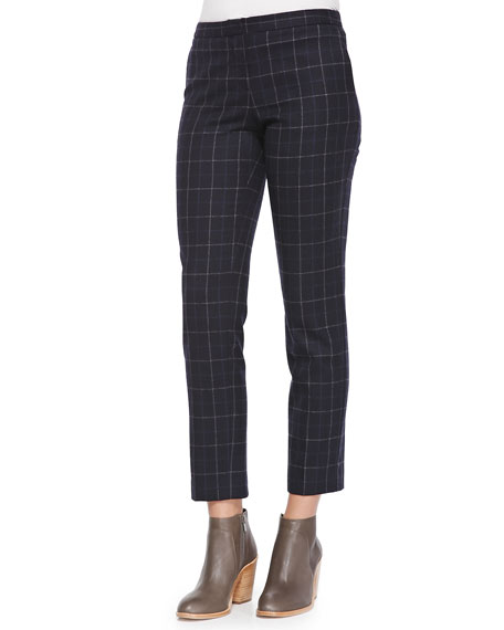 Item Cropped Pants W/ Grids