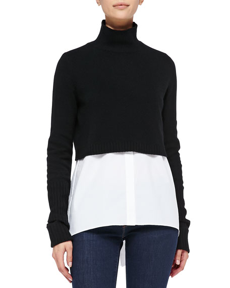 Raleigh Cropped Mock-Neck Sweater