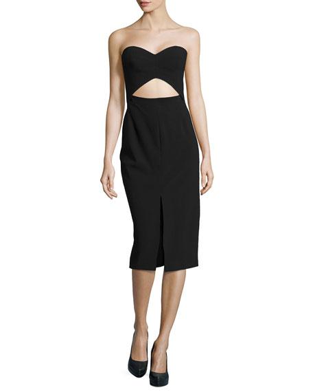 Bustier Cutout Strapless Sheath Dress
