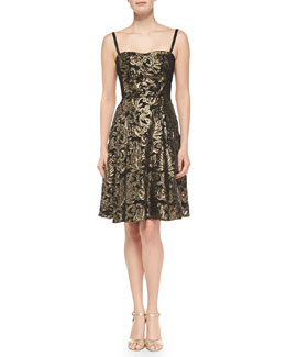 Nanette Lepore Spotlight Metallic Jacquard Dress