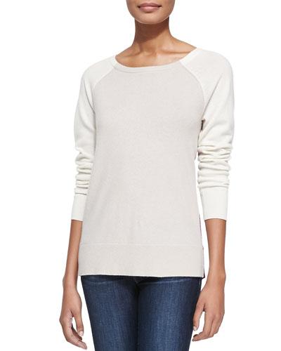 Neiman Marcus Colorblock Cashmere Sweater