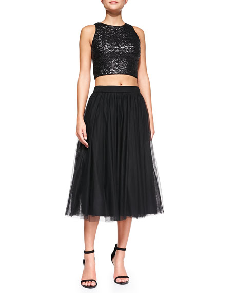 Shadow Waltz Shimmery Tulle Skirt