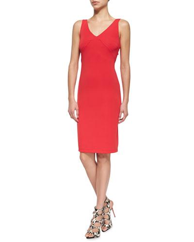 Bailey 44 Slow Dance Sleeveless Ruffled-Front Dress