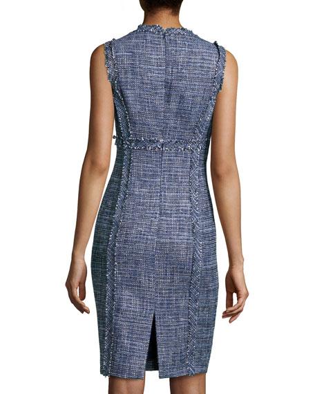Denim Tweed Sheath Dress