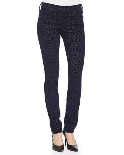 True Religion Halle Leopard-Print Twill Slim Pants