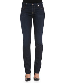 7 For All Mankind Kimmie Straight-Leg Denim Jeans, Classic Dark Blue