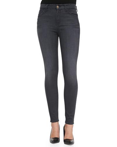 7 For All Mankind High-Waist Skinny-Leg Denim Jeans