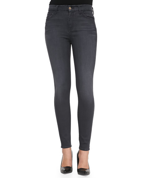 7 For All Mankind High-Waist Skinny-Leg Denim Jeans
