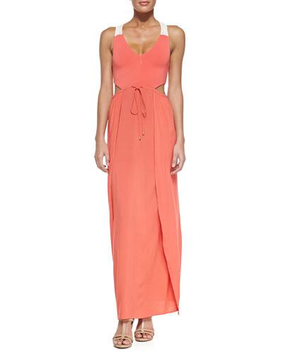 Wonderwall Cutout Tie-Waist Maxi Dress