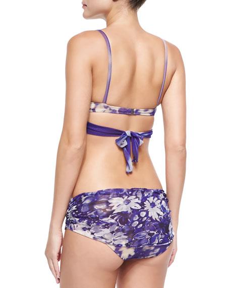Jean Paul Gaultier Gathered Floral-Print Underwire Bikini