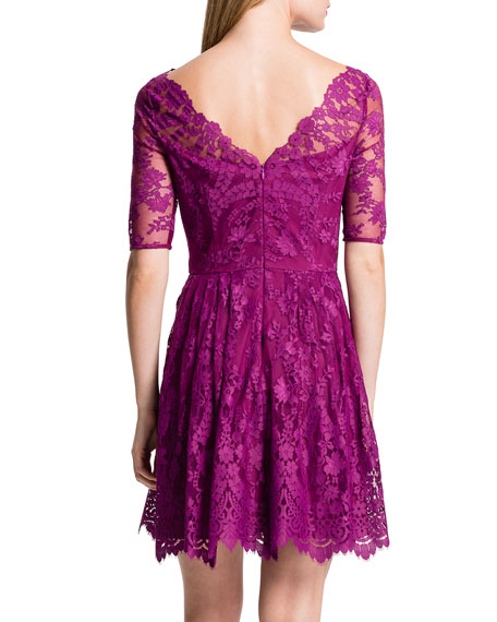 Blay Floral Lace Flare Dress