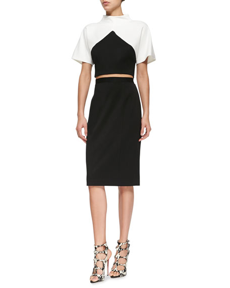 Donelly Two-Piece Dress W/ Contrast Top