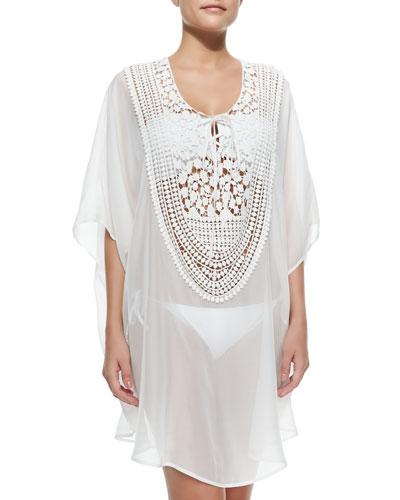 Florence Crochet-Bib Silk Coverup