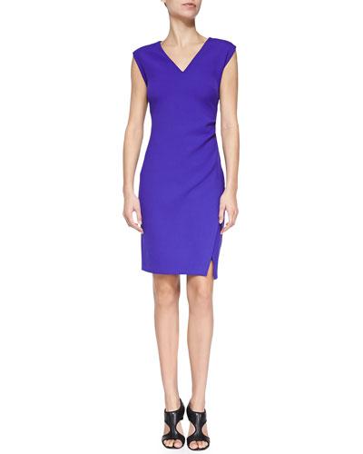 Diane von Furstenberg Megan V-Neck Slim Ponte Dress