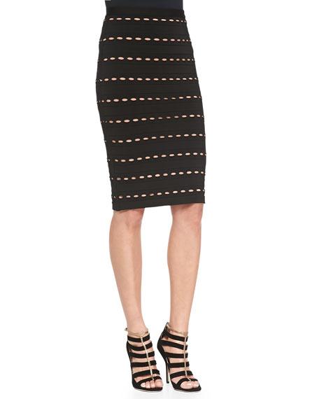 Sia Eyelet-Detail Skirt