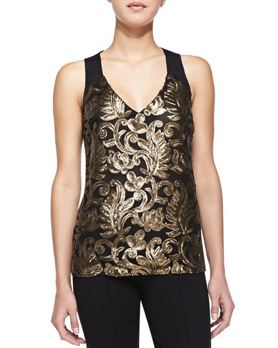 Nanette Lepore Center Stage Sequined Tank