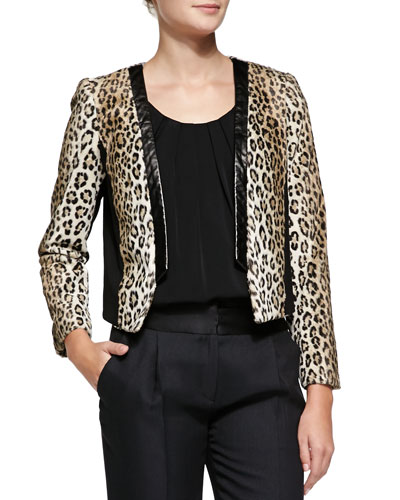 Sidney Cheetah-Print Jacket