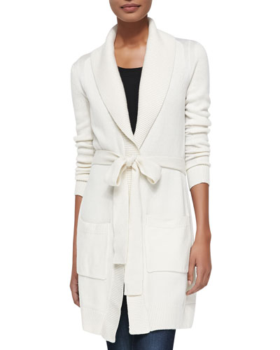 Derek Lam for Neiman Marcus Cashmere Collection Cashmere Shawl-Collar Long Cardigan