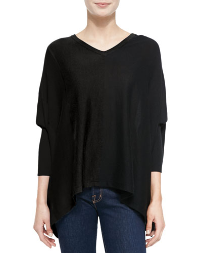 Derek Lam for Neiman Marcus Cashmere Collection Silky Long-Sleeve Tunic