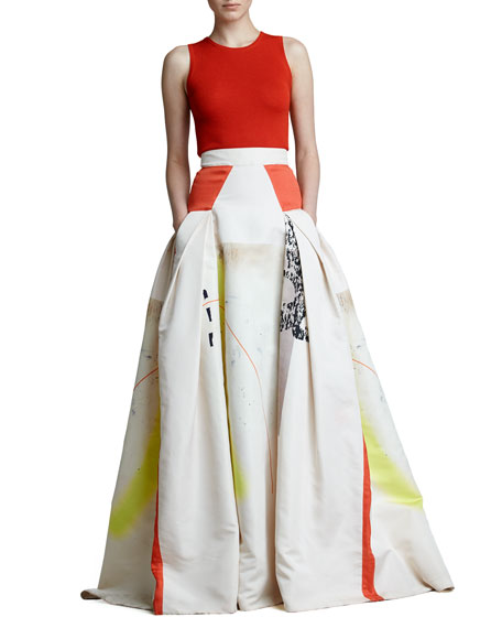 Modern Art Print Ball Skirt