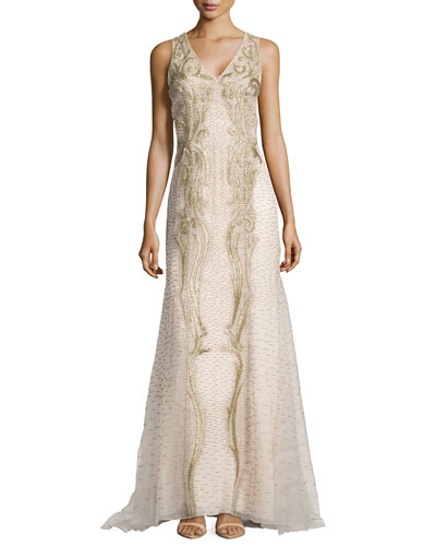 Eastern Silk Double Georgette Gown