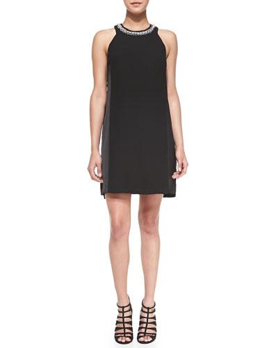 Rebecca Taylor Embellished Cross-Back Dress