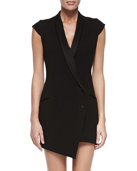 62cf1150595ce9 Haute Hippie Asymmetric Blazer Dress w/Detachable Skirt