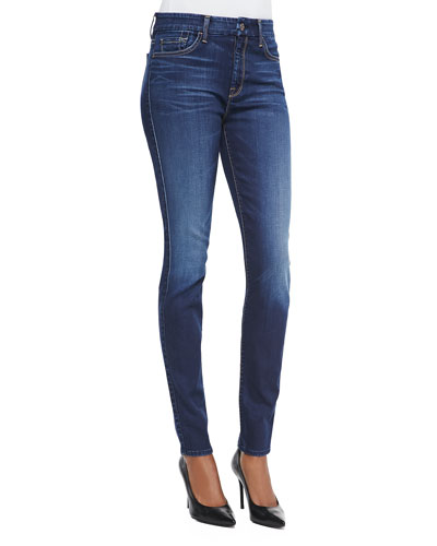 7 For All Mankind Slim Illusion Skinny Jeans, Geneva Blue