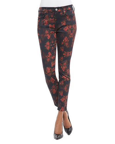 7 For All Mankind Rough Roses Skinny Jeans