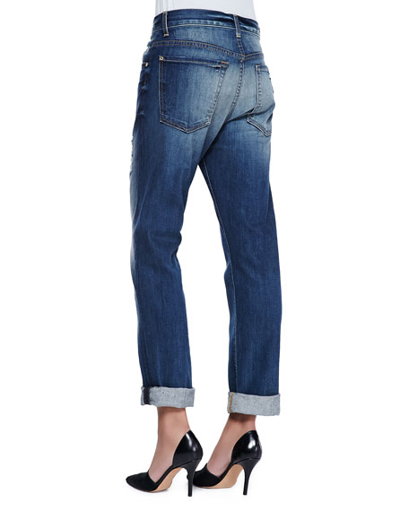 7 For All Mankind The 1984 Distressed Boyfriend Jeans