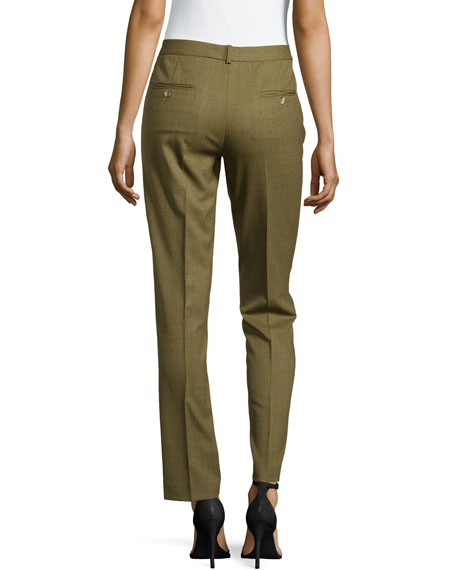 Samantha Cropped Skinny Pants, Military