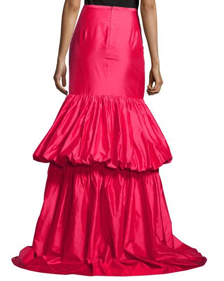 Taffeta Bustle Skirt, Azalea
