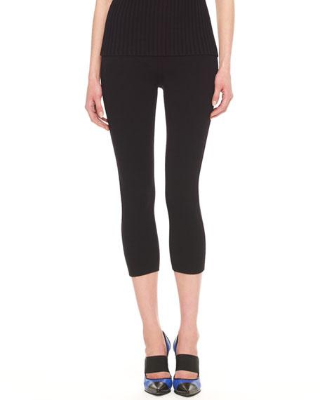 Cropped Wool-Blend Jersey Leggings