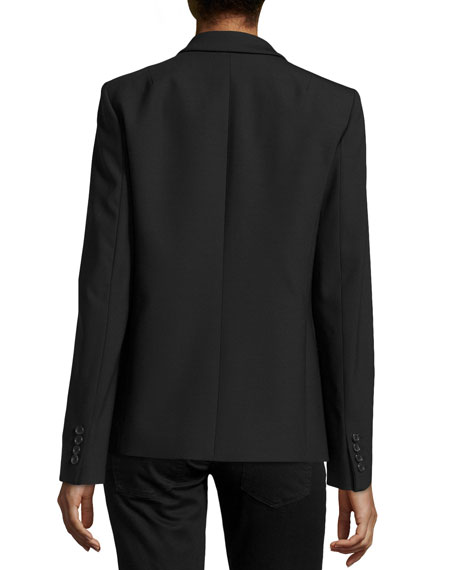 One-Button Blazer, Black