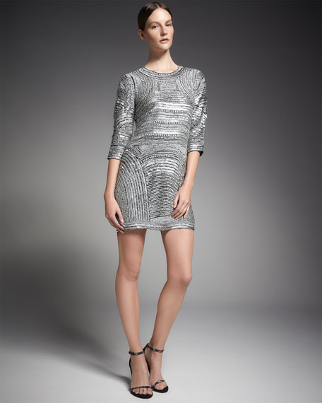 f65a6cb18590 Parker Black Petra 3/4-Sleeve Sequined Cocktail Dress