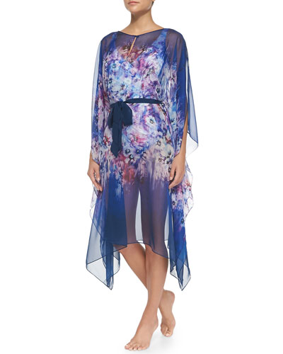 Secret Garden Chiffon Caftan Coverup