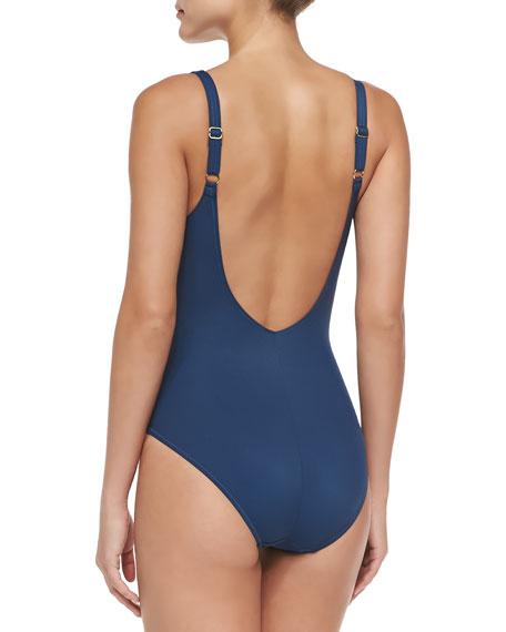 Harmony Square-Neck One-Piece Swimsuit, Women's