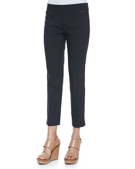 Tory Burch Callie Skinny Ankle Pants, White
