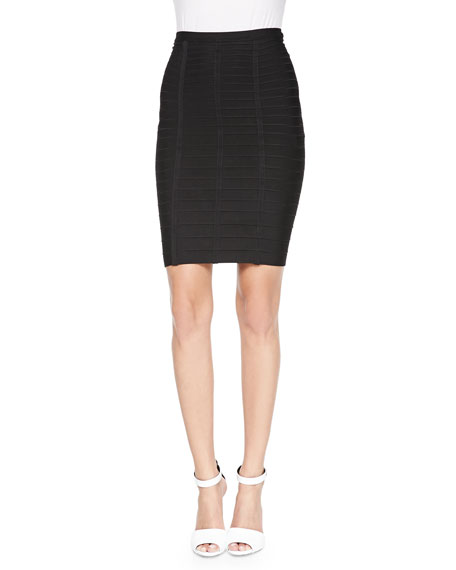 Herve Leger Signature Essential Bandage Skirt, Black