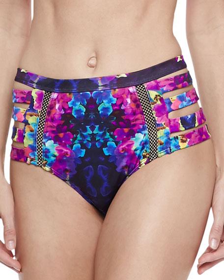 Chloe Warrior Floral High Bikini Bottom