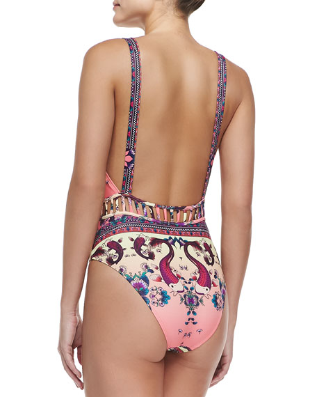 Bombini One-Piece Swimsuit, Two Fish