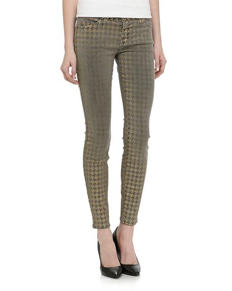 Ankle Skinny Jean, Brown Foil