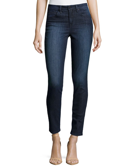 High-Rise Skinny Jeans, Dark Denim