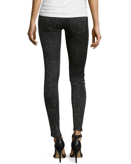 Slim Crop Snake-Print Jeans, Harlem