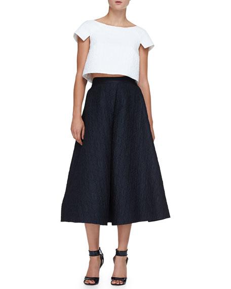 Jacquard Long A-Line Skirt