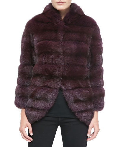 Sable Fur Jacket with Suede Insets