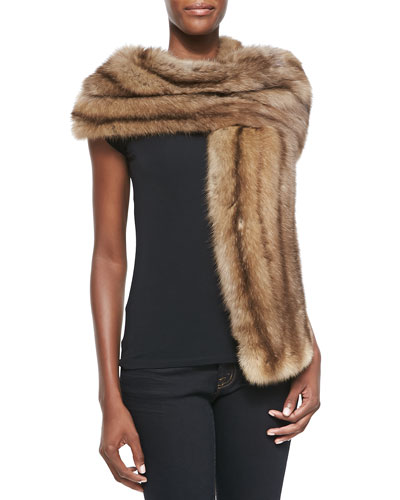 Natural Sable Fur Stole