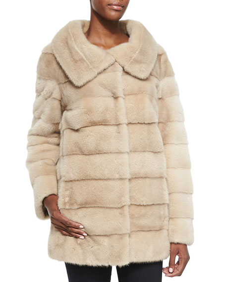 Mink Fur/Taffeta Reversible Coat