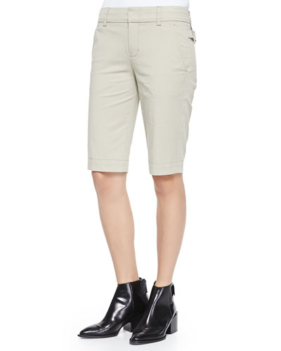 Twill Bermuda Shorts, Light Khaki